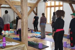 yoga class gratitude retreat