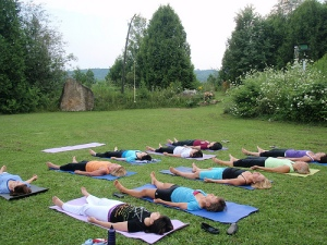 outdoor savasana