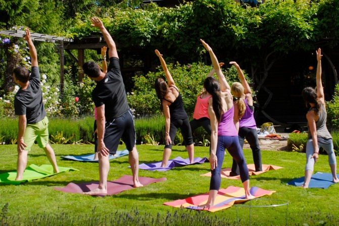 yoga in orchard